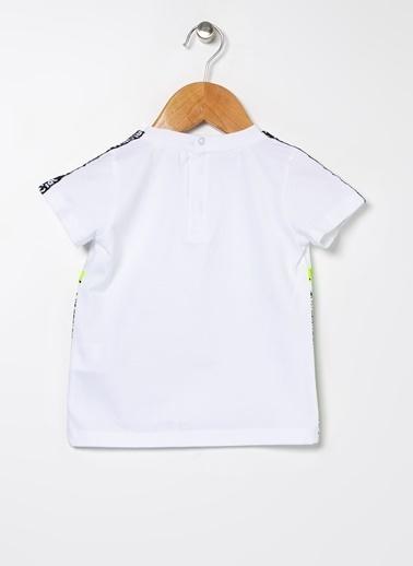 BG Baby BG Baby Beyaz Erkek Bebek T-Shirt Beyaz